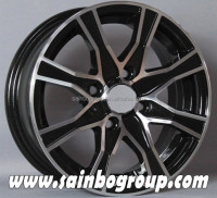 New design matt black car alloy wheels / aluminum car mag wheel