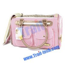 Pretty Stripe Pattern Pet Dog /Cat Bag Fashion Convenient Pet Carrier Tote Bag