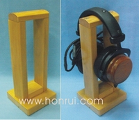 Custom shape wooden headphone stands with custom sizes for wholesale