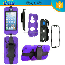 Stand Hybrid Impact Rubber soft silicone + hard Plastic Holster Holder Belt Clip Case For Samsung GALAXY S2