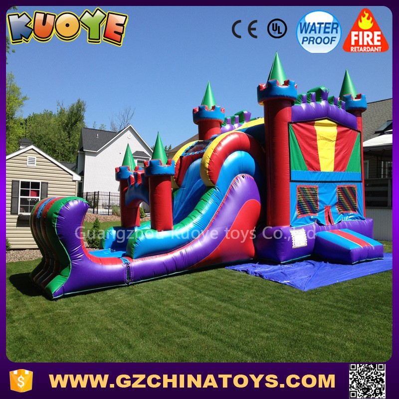HOT sale adult inflatable house bouncer with slide inflatable combo bouncer slide