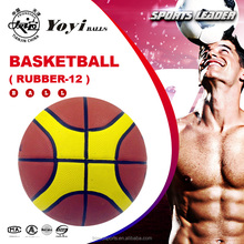 new style 12 panel three different color basketball
