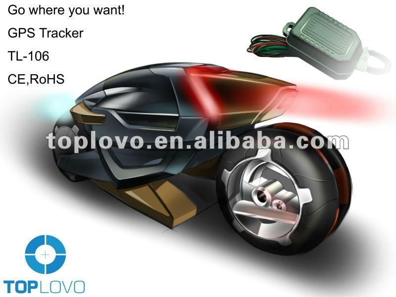 Toplovo TL-106 moto gps tracker for vehicle and motor