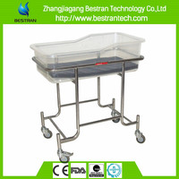 BT-AB109 Stainless steel height adjustable hospital baby bassinet