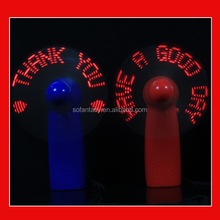 Promotion Gift Custom Message Led Glow Mini Electric Hand Fan