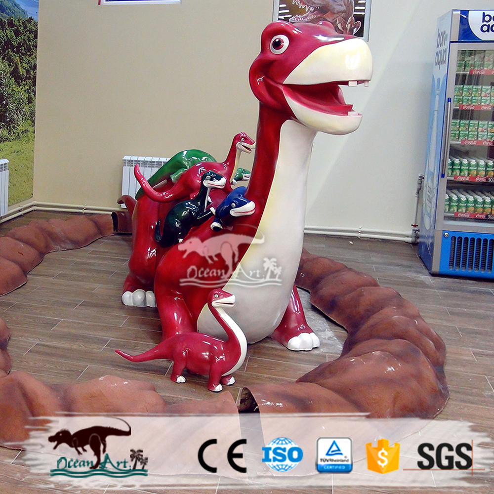 Artificial cartoon dinosaur robot for theme park