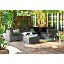 Outdoor Cebu plastic rattan woven sectional sofa furniture