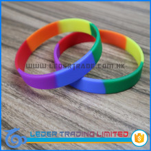 colorful rainbow rubber bracelet wristband Childrens Day gift best present for children