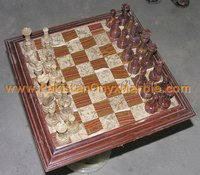 BUSINESS GIFTS/ONYX CHESS BOARDS WITH FIGURES