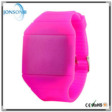 Hot selling women men bracelet LED cheap silicon rubber colorful watch
