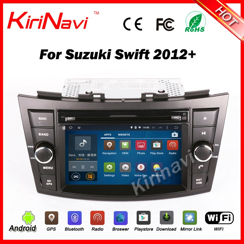 Kirinavi WC-SS7669 android 5.1 car multimedia for suzuki swift 2012-2016 touch screen Mp3/Mp4 player car stereo