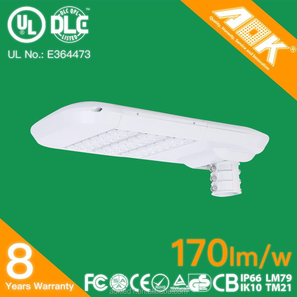 Factory price UL listed high lumen outdoor IP66 170lm/w 5 years warranty dimmable photocell 150w LED street light