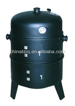 Outdoor Barrel Charcoal Grill & Smoker