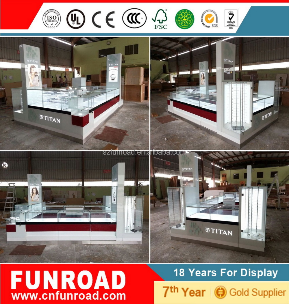 Funroad customized bulid shopping mall watch kiosk design