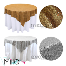 Sequin table cloth gold sequin table overlay