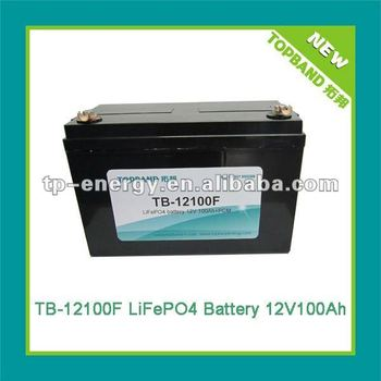 Top sale battery lithium 12V 100Ah for solar system/electric boat
