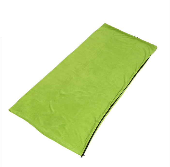 Outdoor envelope shape waterproof sleeping bag with cotton filler