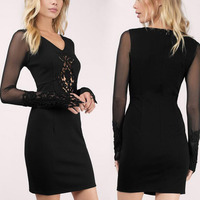 High Quality Clothes Sexy Tight Casual Women Lace Dresses Wholesale Clothing