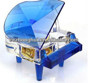 Blue crystal piano for import export business ideas