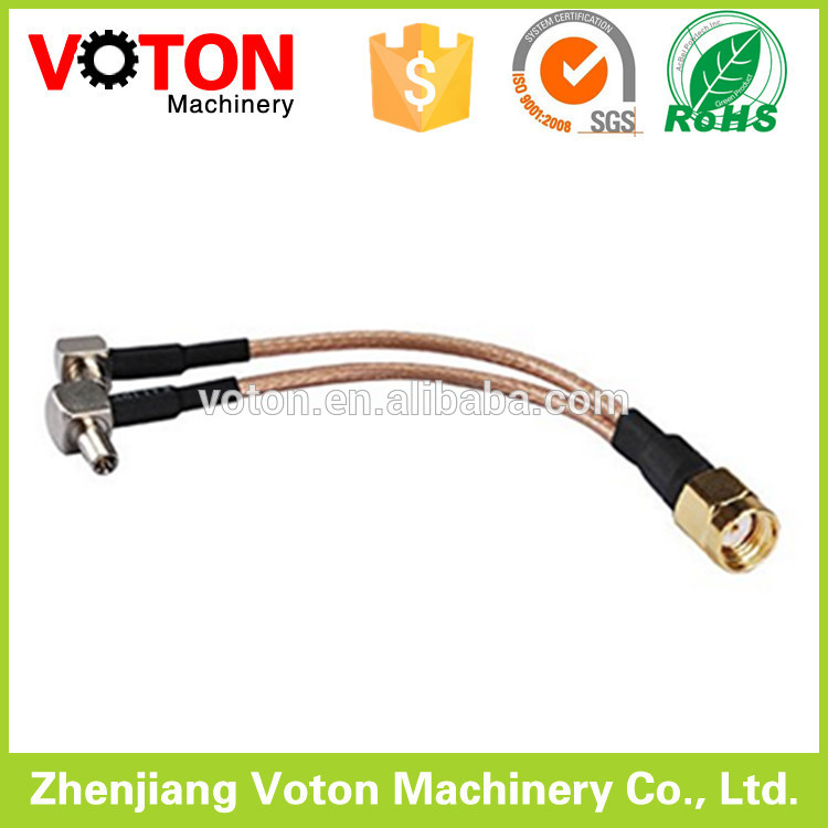 Jumper 1/2 superflex Cable with 7/16 Din Male Straight 7/16 Din Male Right angle connector