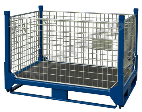 Industrial Heavy Duty Steel Stackable Portable Storage Cage