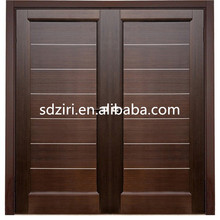 China suppliers teak wood main safety door design with grill