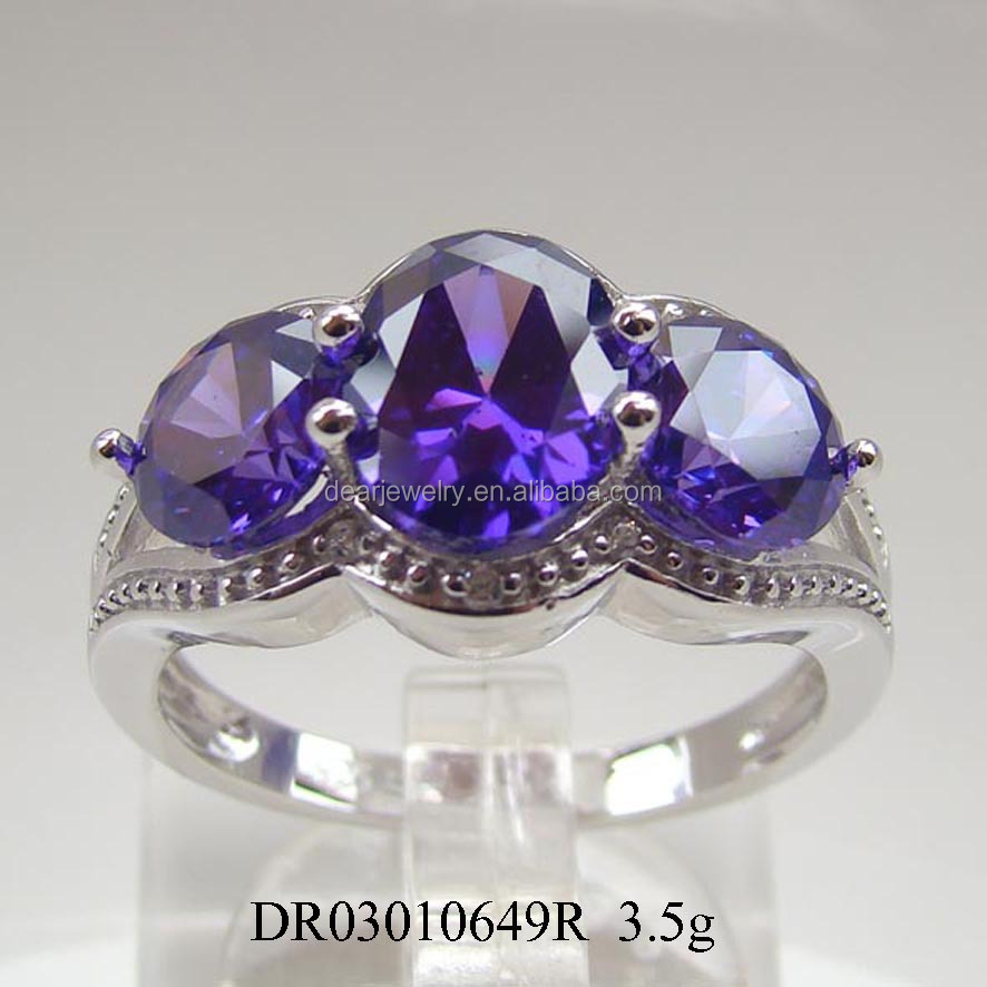 New Styles! Latest Amethyst Jewelry 925 Silver Ring For Visitor
