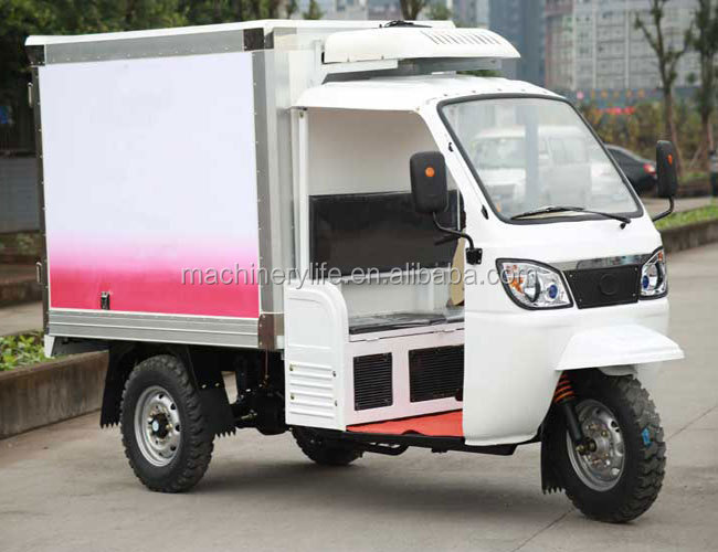 Chogqing China 175cc 1.8 Meter Length Container Water Cool Engine Three Wheel Motorcycle with Iron Cabin