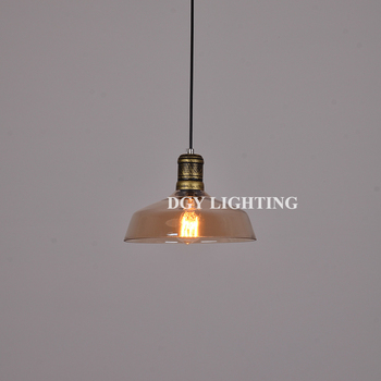 retro vintage glass hanging pendant lamp with edison bulb