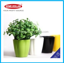 100mm Eco-friendly Bamboo Fiber Garden Colorful Flower Pot