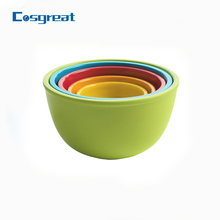 Assorted size melamine deep mixing bowl set