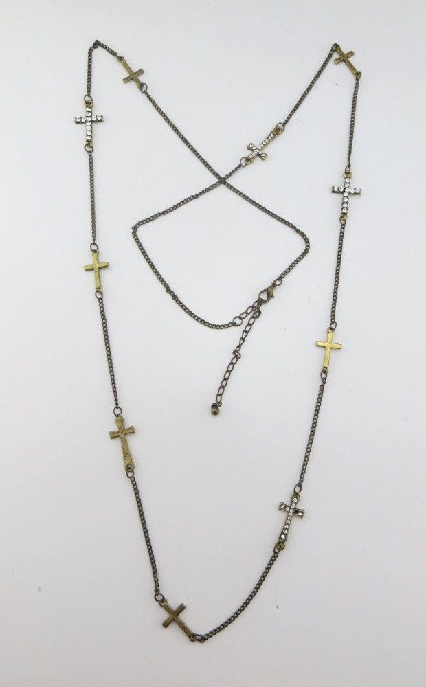 Vintage multi cross necklace