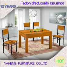 Indoor solid wood 2012-9 MDF board dining table and chair distributor with high quality