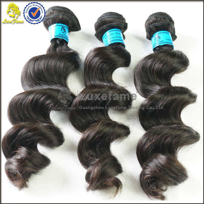 "Large stork 10""-36"" 100% Brazilian human hair wholesale loose wave Brazilian hair weave"