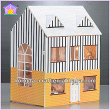 DIY Wooden Doll House miniature Beautiful Crafts Dreaming House
