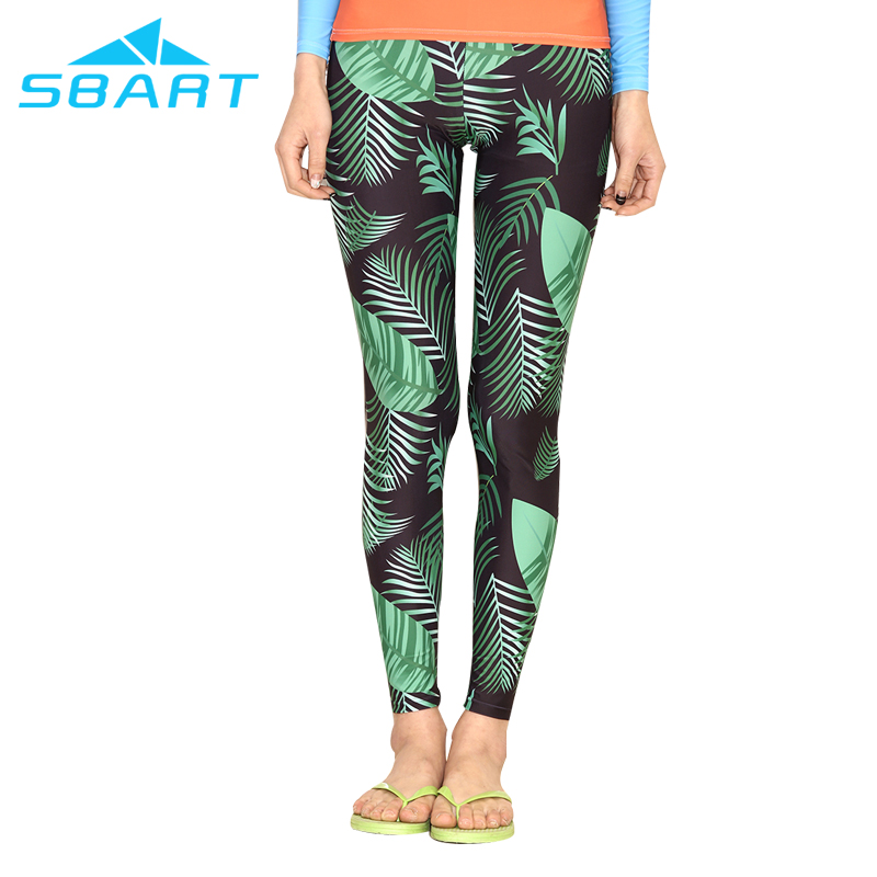 sbart high quality skin friendly lycra quick dry womens sublimated sports legging upf50+ swimming/surfing/diving pants