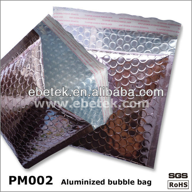 Metallic purple aluminum foil bubble envelopes/mailers with high quality
