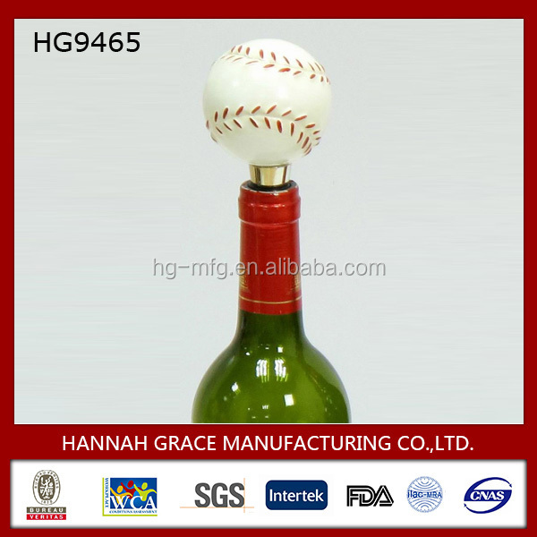 Souvenir Gift Metal Baseball Wine Bottle Stopper