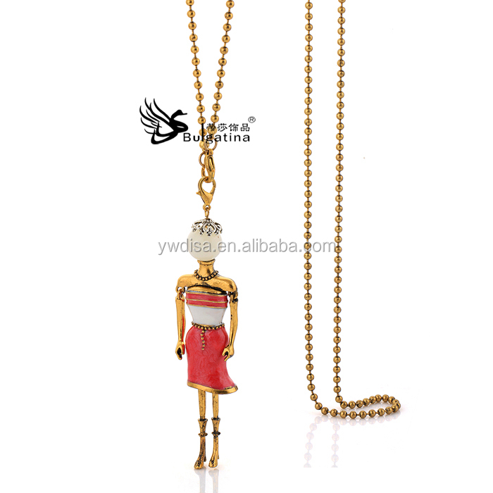 Doll Pendant Necklace New Design,Fashion Doll Necklace Designs,High Quality Jewelry