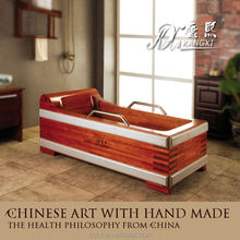 KX healthy wood chape whirlpool massage bathtub