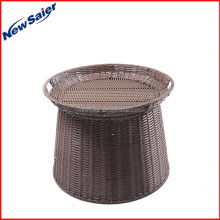 Unique design food grade silicone ring rattan pet basket