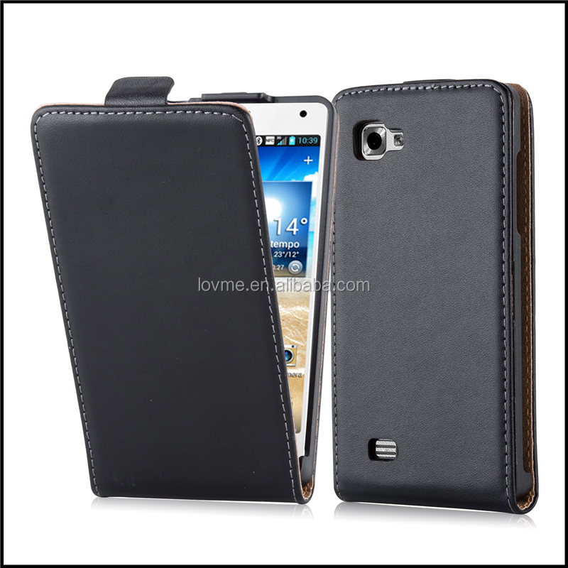 Magnetic Genuine Real Flip Leather Case Wallet Cover for LG Optimus 4X P880 HD