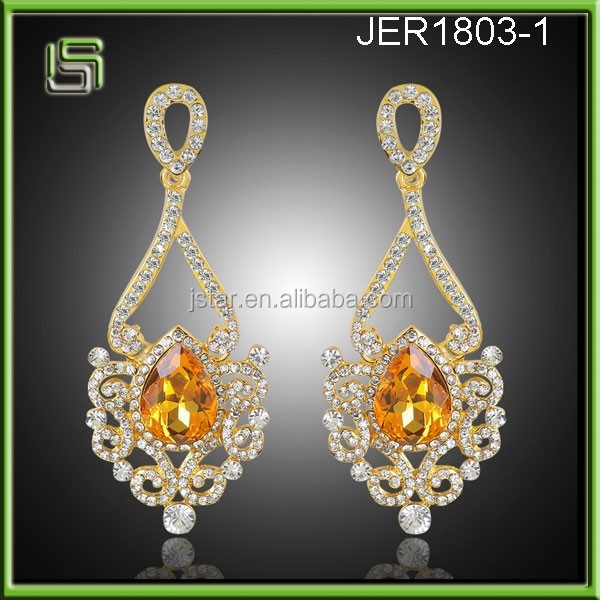Wholesale fashion crystal drop earrings