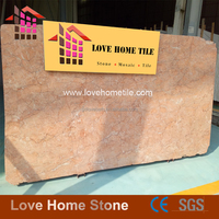 Commerical white and pink portuguese marble slabs