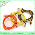 Fabric braided usb cable for iphone 7 iphone 6 data transfer charging cable