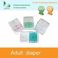 comfortable cheap print adult diaper with front tape