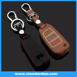 Folding Flip Leather Key Ring Car Key Cover Key Case For Audii A1 A3 A4 A5 A6 A7 A8 Q5 Q7 R8 TT S5