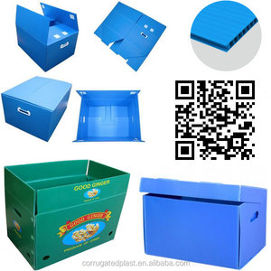 Folding Corrugated Plastic Coroplast Box for Packing