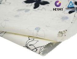 Floral Print Cotton Poly Spandex Twill Fabric