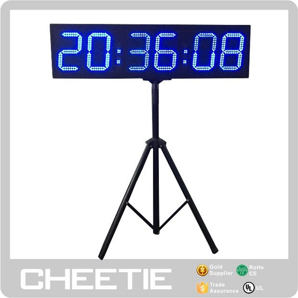 Outdoor Ultrak LED Display 6 Digit 8 Inch Countdown Stopwatch Blue Electronic Sport Timer